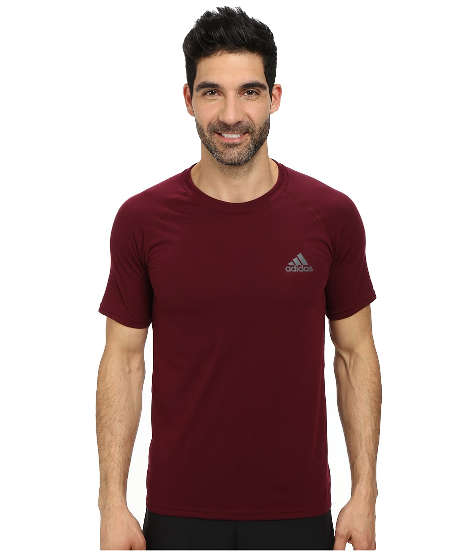 adidas - Ultimate S/S Crew Tee (Maroon/DGH Solid Grey) Men's T Shirt