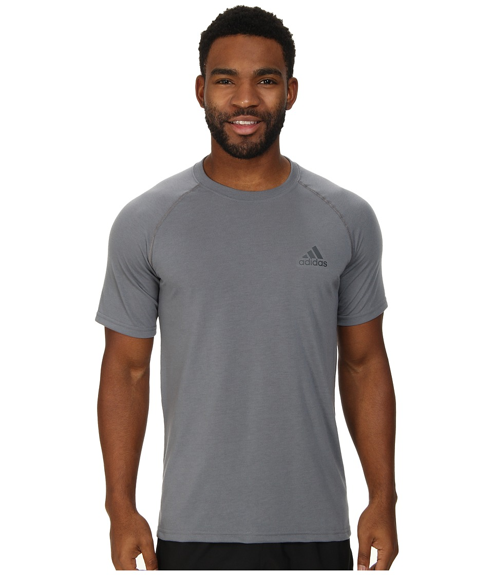 adidas - Ultimate S/S Crew Tee (Vista Grey/DGH Solid Grey) Men's T Shirt