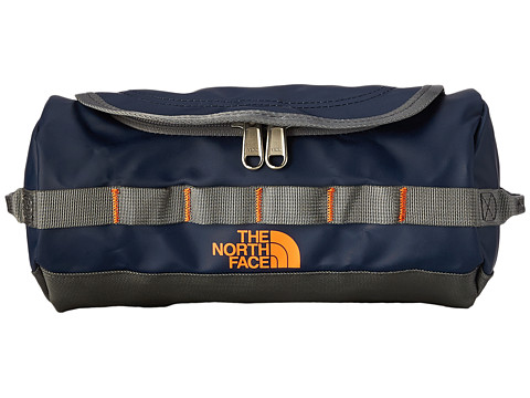 The North Face - Base Camp Travel Canister - Small (Cosmic Blue/Power Orange) Luggage