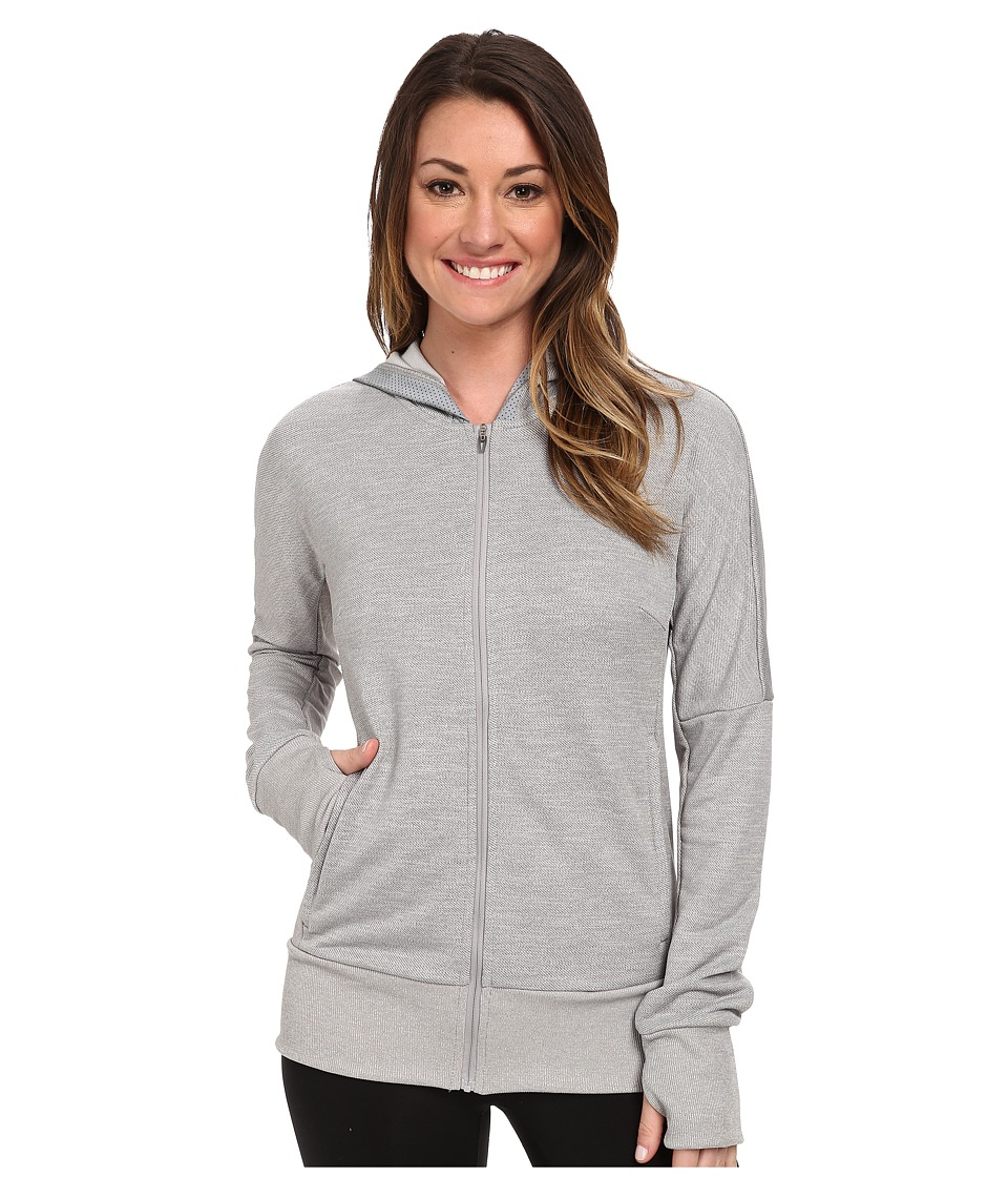 adidas - Beyond The Run Hoodie (Medium Grey Heather) Women's Sweatshirt