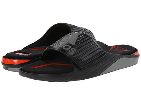adidas - Fluidmove Slide (Black/Iron Metallic/Solar Red) Men