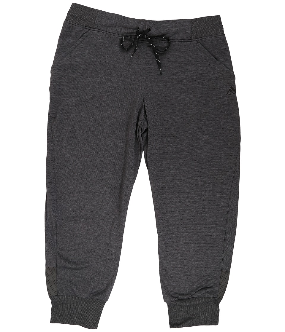 adidas - Beyond The Run Cuffed Track Pant (Dark Grey Heather) Women's Casual Pants