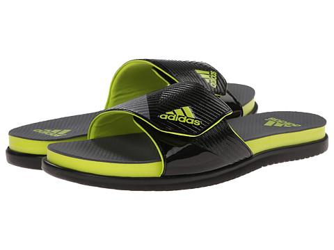 adidas - Supercloud Plus Slide (Vista Grey/Core Black/Semi Solar Yellow) Men