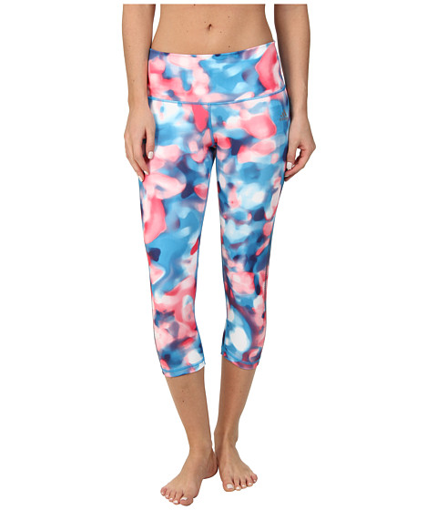 adidas - Performer Mid-Rise Three-Quarter Tight - Festival Print (Blue Multicolor/Night Sky) Women