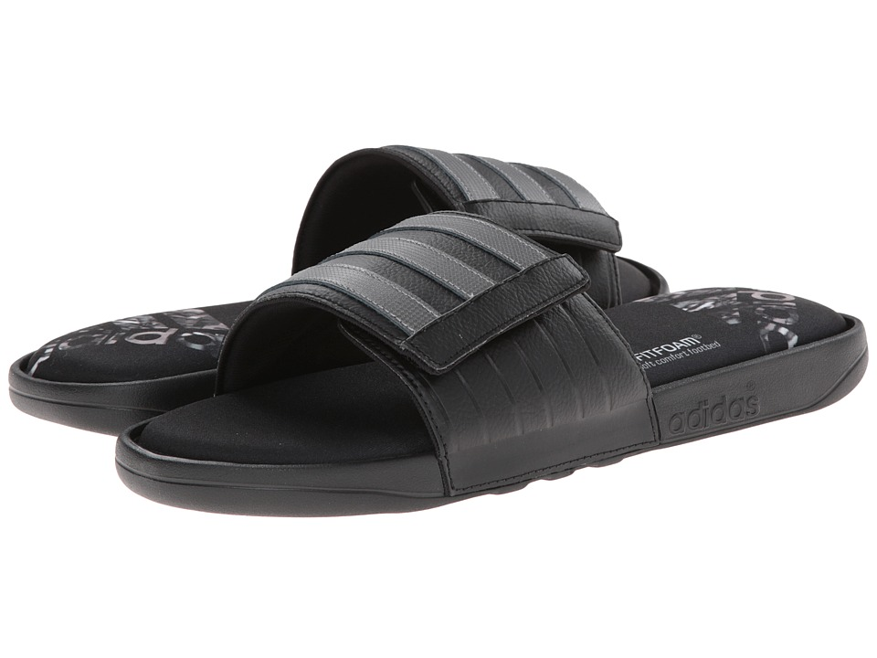 adidas - Adissage Comfort FF (Black/White) Men's Slide Shoes