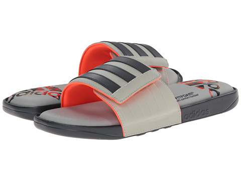 adidas - Adissage Comfort FF (Dark Grey/Sesame/Solar Red) Men's Slide Shoes