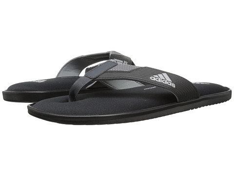 adidas - Viveup Thong FF (Black/Vista Grey/Dark Grey) Men's Slide Shoes