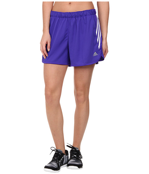 adidas - Ultimate 3-Stripes Knit Short (Night Flash/Night Flash/Flash Pink) Women's Shorts