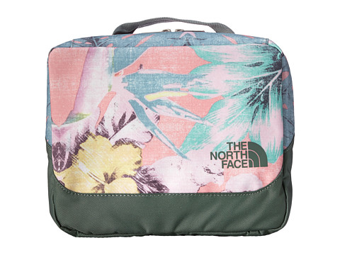 The North Face - Base Camp Flat Travel Kit (Ballet Pink Hawaiian Sunrise Print) Toiletries Case