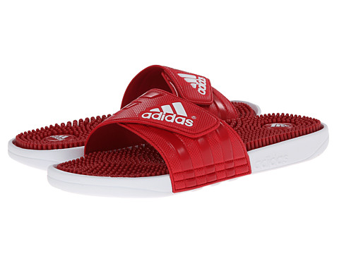 adidas - adissage (Scarlet/White/Power Red) Men's Slide Shoes