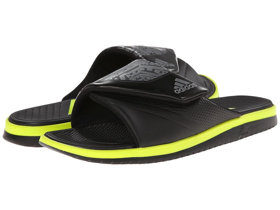 adidas - Carmoflage Slide (Iron Metallic/Black/Semi Solar Yellow) Men's Slide Shoes