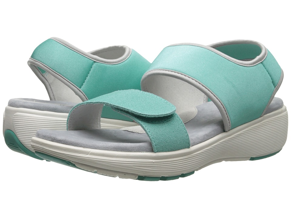 SoftWalk - Elements (Turquoise/Turquoise/Silver Embossed Leather) Women