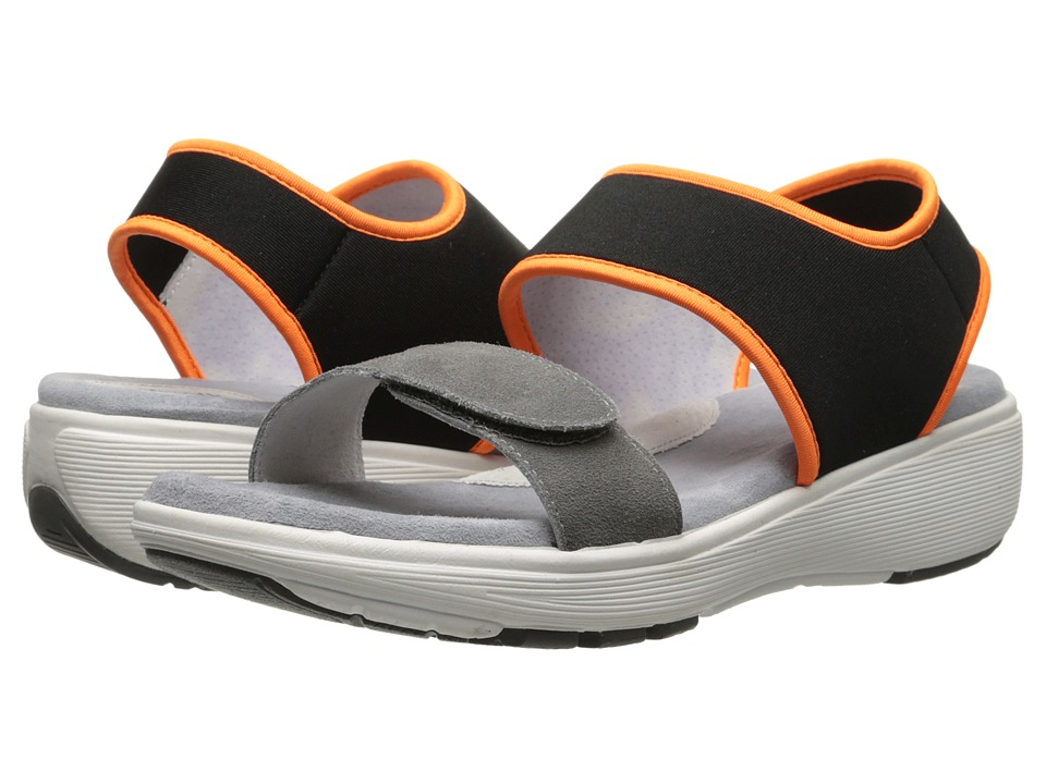 SoftWalk - Elements (Grey/Black/Orange Embossed Leather) Women