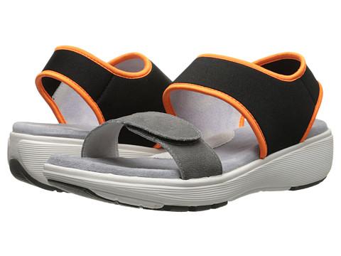 SoftWalk - Elements (Grey/Black/Orange Embossed Leather) Women's Shoes