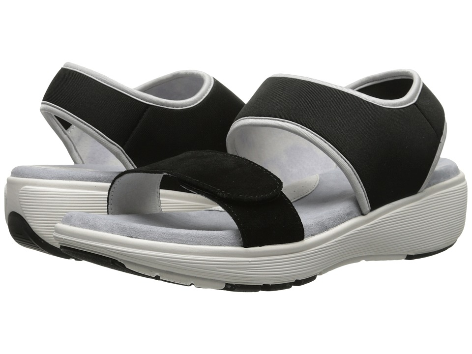 SoftWalk - Elements (Black/Black/Silver Cow Suede) Women