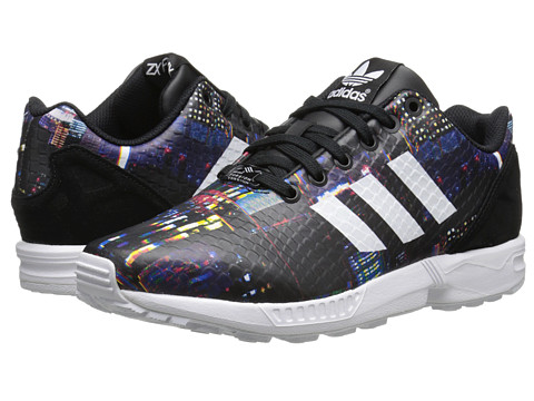adidas Originals - ZX Flux - Print (Black Print/White/Black) Women