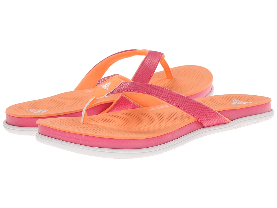 adidas - Cloudfoam Ultra Thong (Flash Orange/White/Solar Pink) Women's Sandals