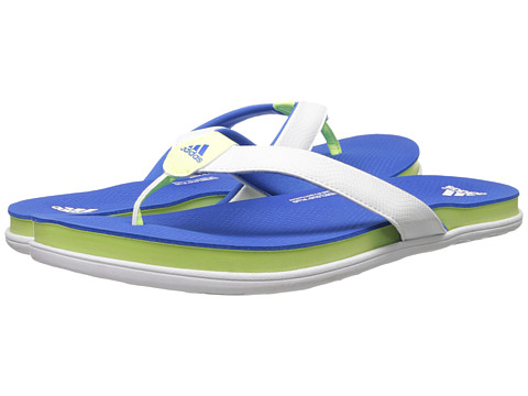 adidas - Supercloud Plus Thong (White/Bright Royal/Light Flash Yellow) Women