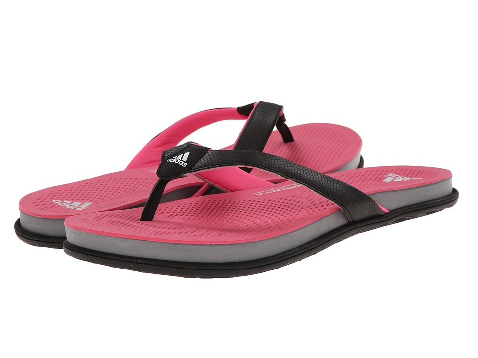 adidas - Cloudfoam Ultra Thong (Black/Solar Pink/Grey) Women's Sandals