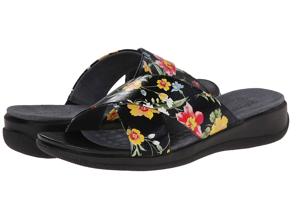 SoftWalk - Tillman (Midnight Floral Printed Leather) Women