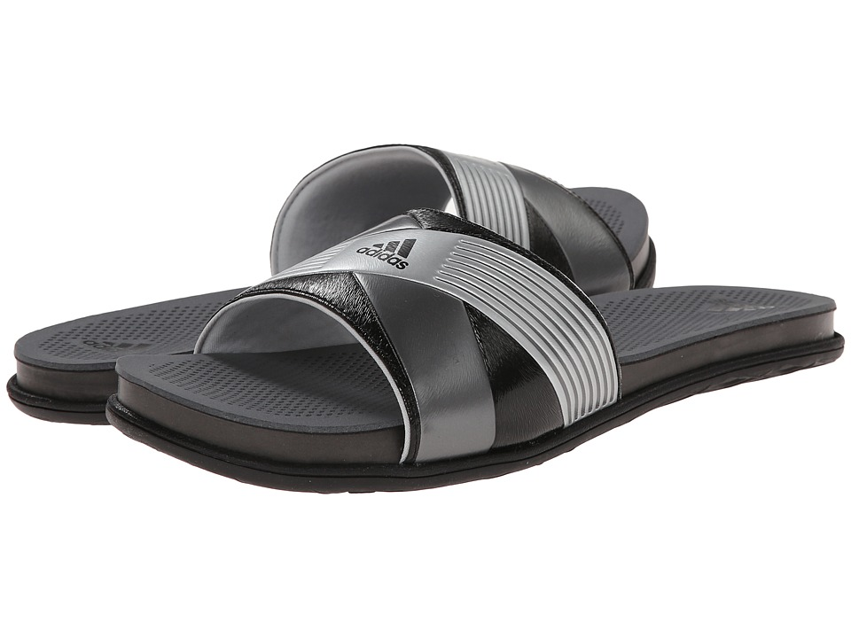 adidas - Supercloud Plus Slide (Core Black/Silver Met/Clear Grey) Women's Slide Shoes