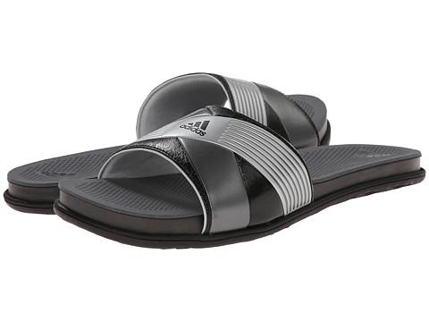 adidas - Supercloud Plus Slide (Core Black/Silver Met/Clear Grey) Women