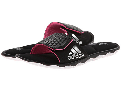 adidas - Anyanda Flex Slide (Black/Solar Pink/Silver Metallic) Women's Slide Shoes