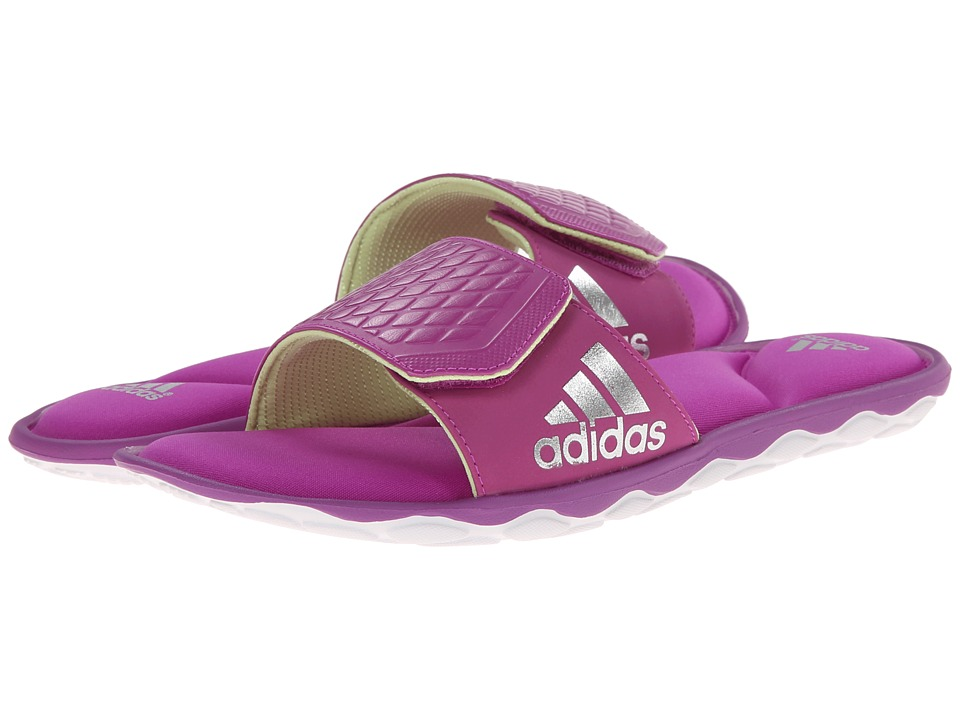 adidas - Anyanda Flex Slide (Flash Pink/White/Silver Metallic) Women's Slide Shoes