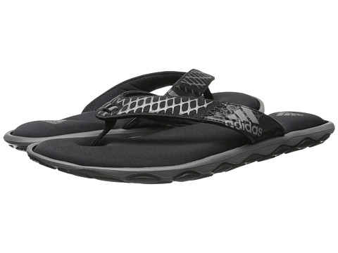 adidas - Anyanda Flex Thong (Black/Iron Metallic) Women