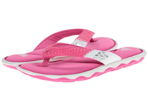 adidas - Anyanda Flex Thong (Pink/White/Silver Metallic) Women's Sandals