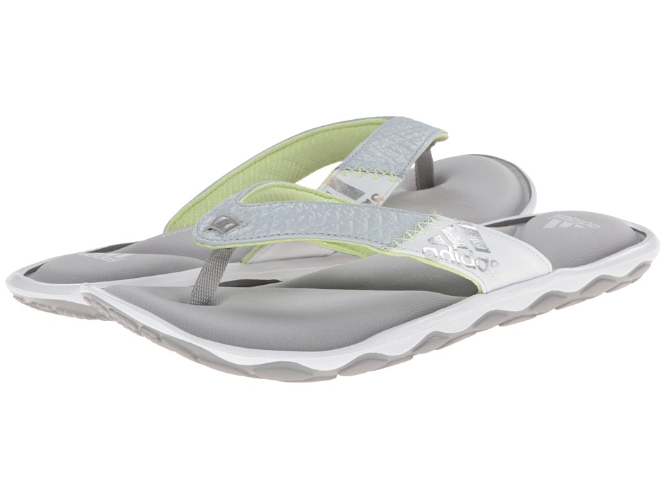 adidas - Anyanda Flex Thong (Silver Metallic/White/Clear Grey) Women's Sandals