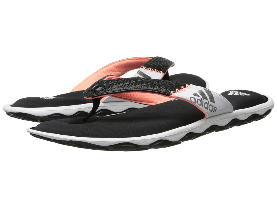adidas - Anyanda Flex Thong (Black/White/Silver Metallic) Women's Sandals