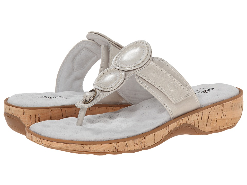 SoftWalk - Beaumont (Off White Soft Dull Leather) Women's Sandals