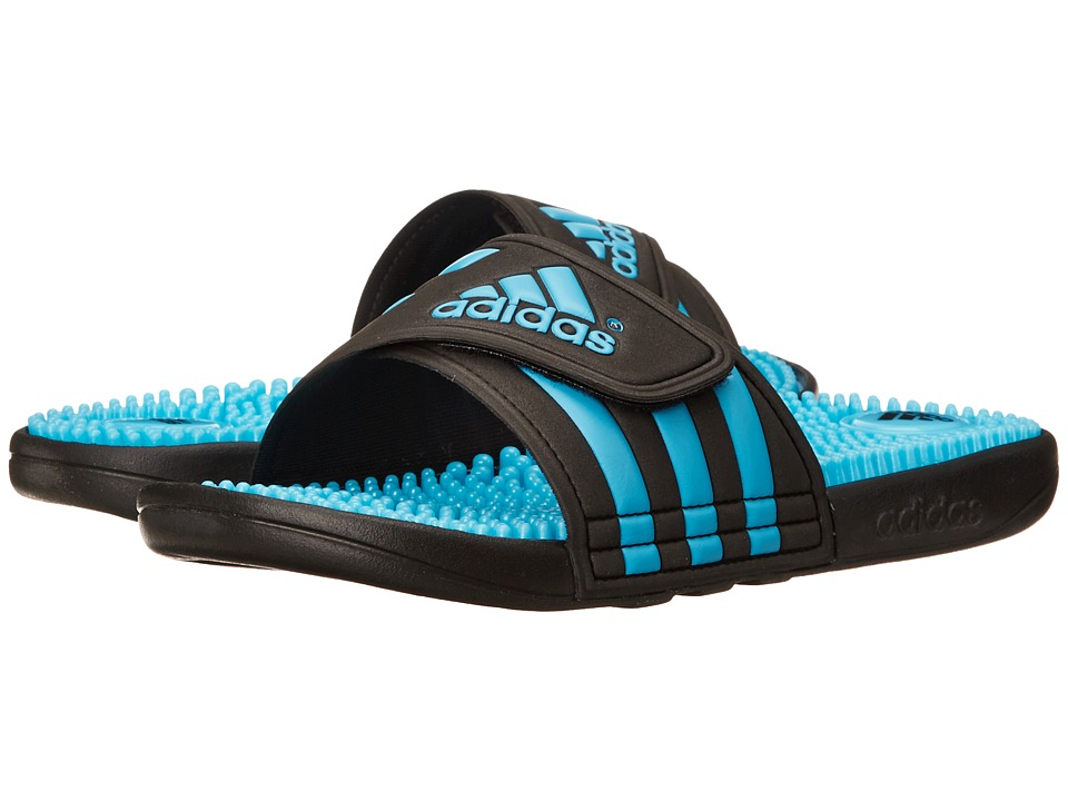 adidas - adissage (Black/Samba Blue) Women's Sandals