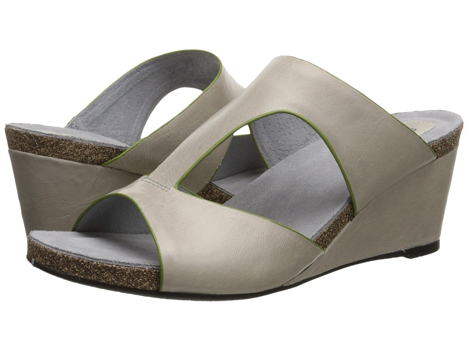 SoftWalk Jermaine (Light Grey/Lime Soft Dull Leather) Women