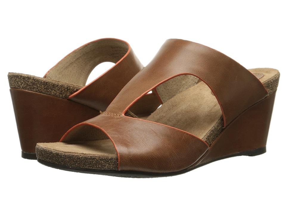 SoftWalk - Jermaine (Luggage/Orange Soft Dull Leather) Women's Wedge Shoes