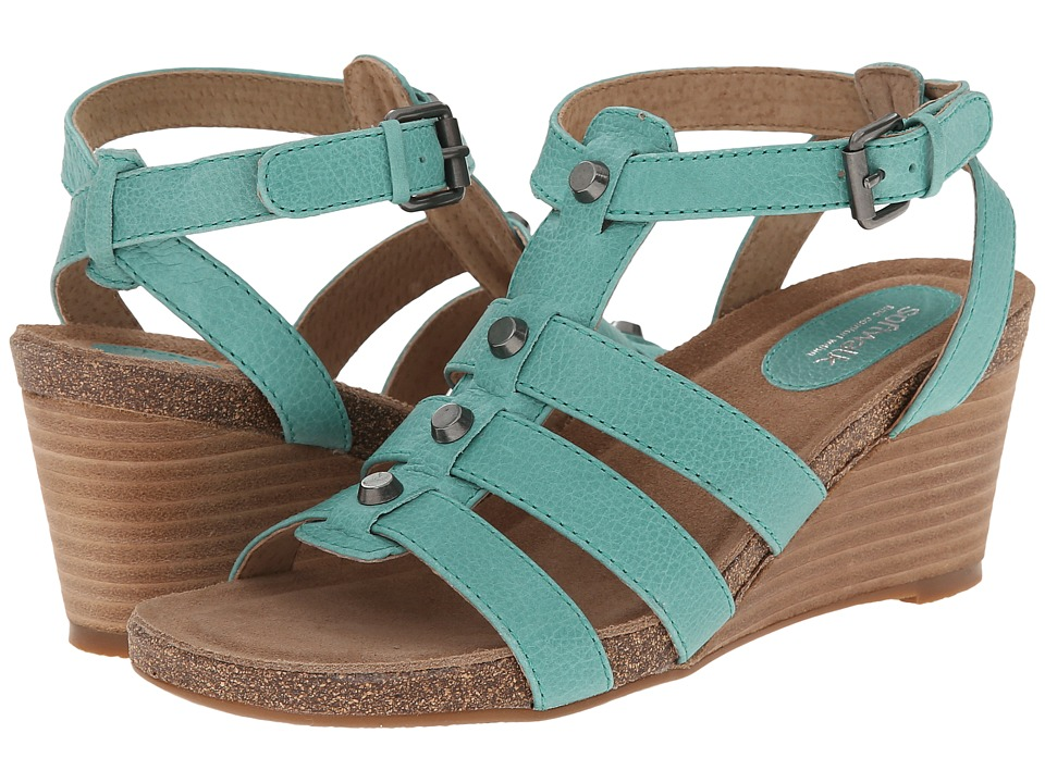 SoftWalk Jacksonville (Green Soft Tumbled Leather) Women