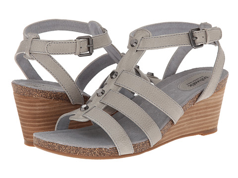 SoftWalk - Jacksonville (Light Grey Veg Calf Leather) Women's Wedge Shoes