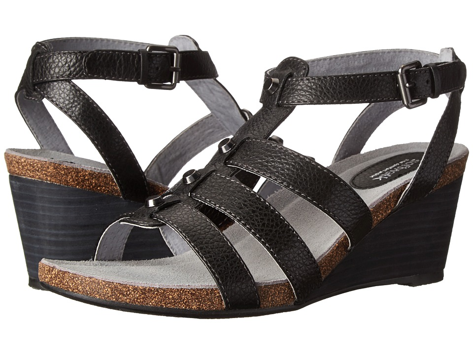 SoftWalk - Jacksonville (Black Soft Tumbled Leather) Women