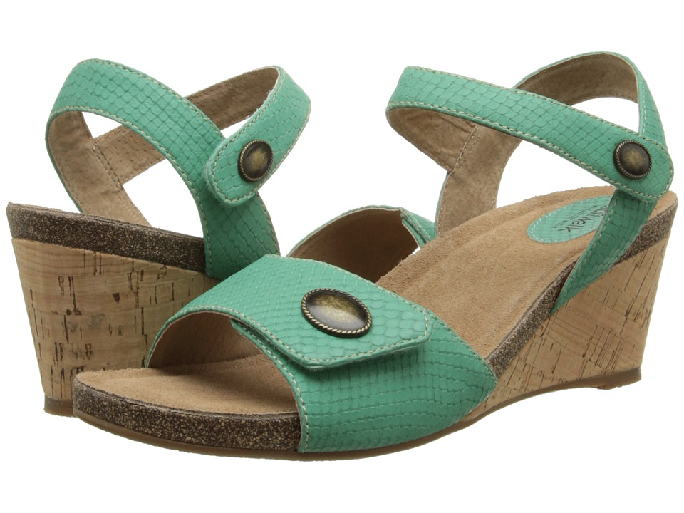 SoftWalk - Jordan (Green Snake Embossed Leather) Women's Wedge Shoes