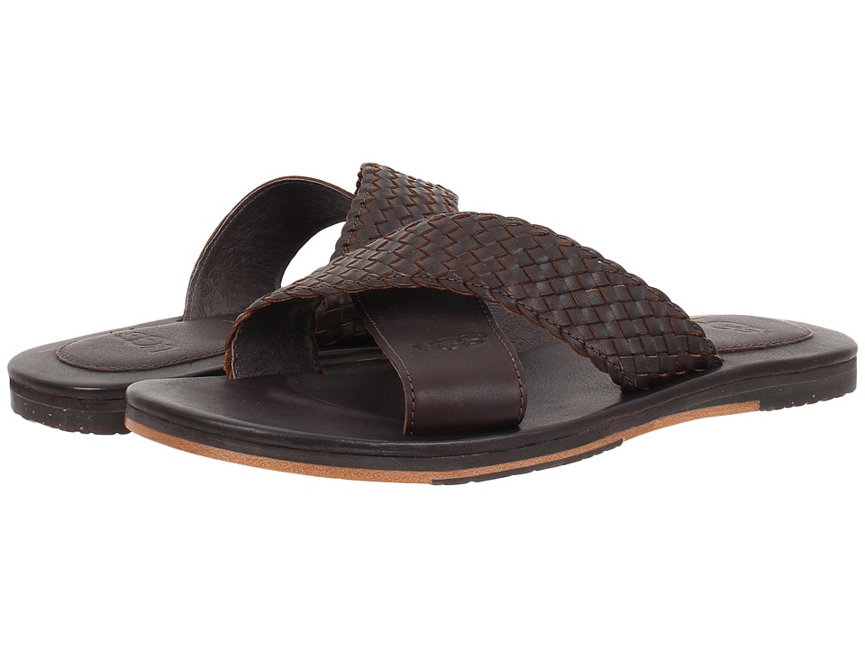 UGG - Hendry Weave (Chocolate Leather) Men's Sandals