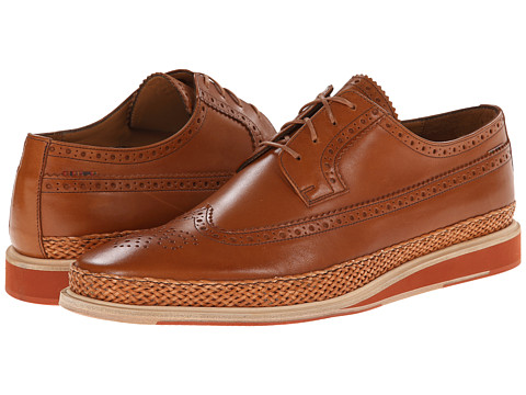 Paul Smith - Kordan Wingtip Oxford (Cuoio) Men's Lace Up Wing Tip Shoes
