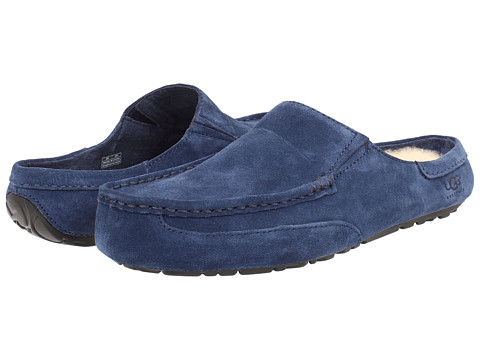 UGG - Alamar (New Navy Suede) Men's Slippers