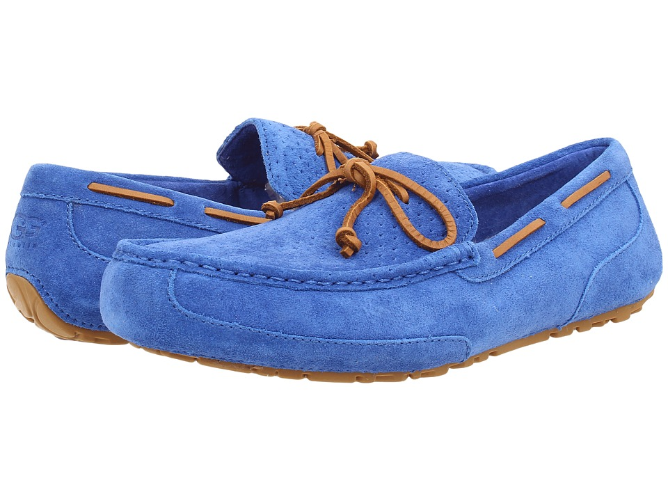 UGG - Chester Perf (Marine Blue Suede) Men's Slip on Shoes