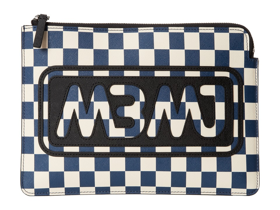 Marc by Marc Jacobs - Sophisticato Saffiano Printed Checkerboard Tablet Zip Cutout Case (Deep Blue Multi) Computer Bags