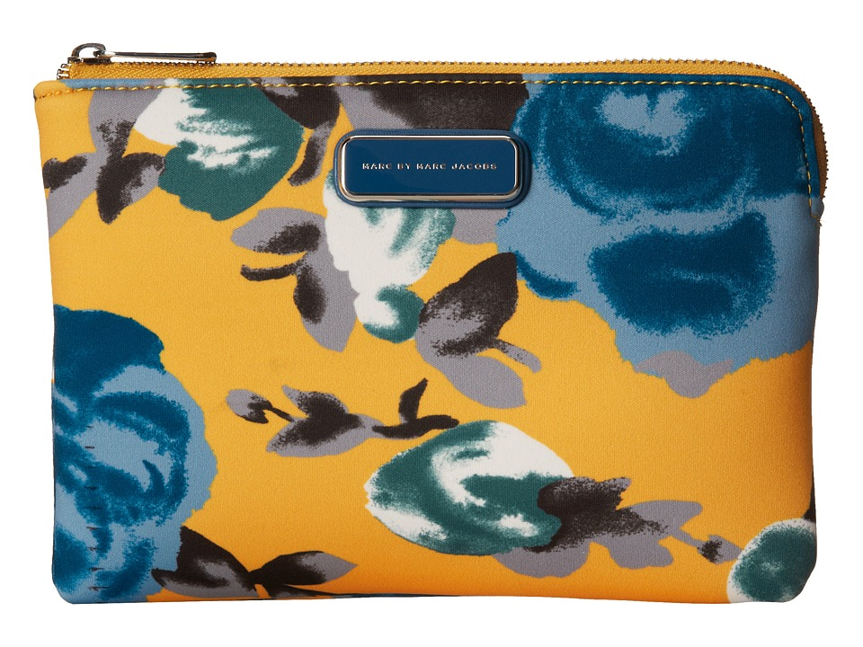 Marc by Marc Jacobs - Jerrie Rose Neoprene Mini Tablet Zip Cutout Case (Yellow Jacket Multi) Computer Bags