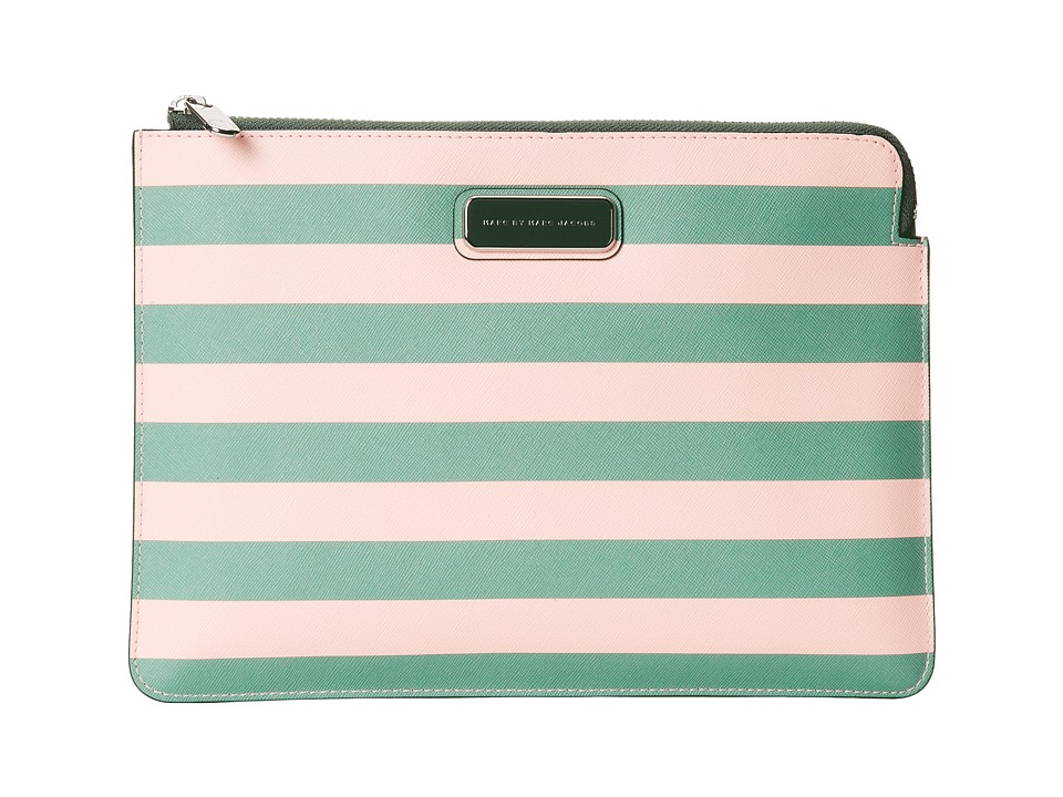 Marc by Marc Jacobs - Sophisticato Saffiano Jerrie Rose Stripe Tablet Zip Cutout Case (Desert Bloom Multi) Computer Bags