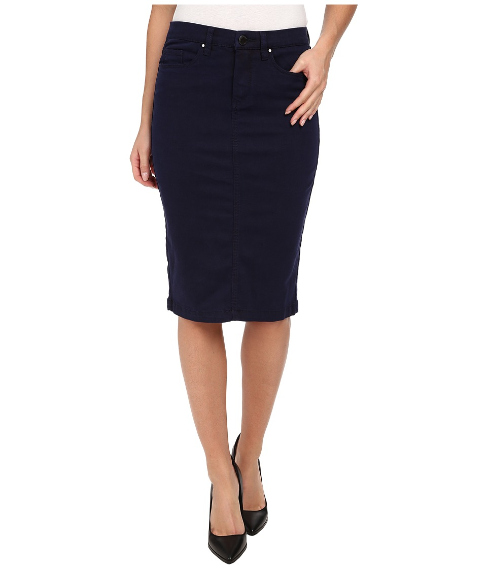 Blank NYC Navy Blue Pencil Skirt (Midnight Blue) Women