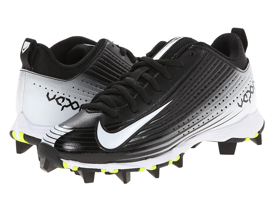 Nike Kids - Vapor Keystone 2 Low BG Wide Baseball (Toddler/Little Kid/Big Kid) (Black/White) Kids Shoes