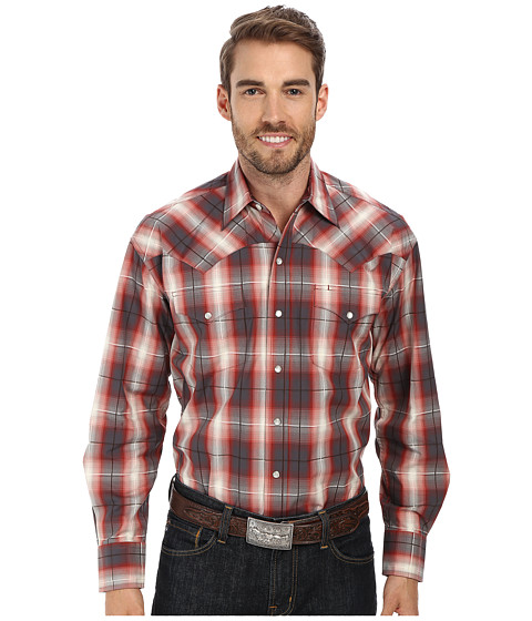 Stetson - Line Plaid Flat Weave Y/D w/ Satin (Red) Men
